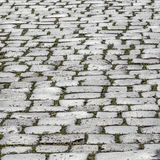Cobbled road as background Stock Photos
