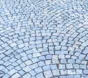 Cobbled road background Stock Photos