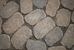 Cobbled road background Royalty Free Stock Photos