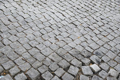Cobbled Road. Detail of a cobbled road. Porto, Portugal Royalty Free Stock Photography