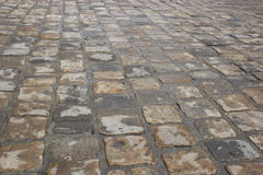 Cobbled Road. Fragment of cobbled road useful as texture or background Stock Image