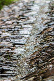 Cobbled road in the rain Royalty Free Stock Photo
