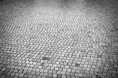 Cobbled road texture Royalty Free Stock Photo