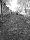 Cobbled sidewalk Royalty Free Stock Photo