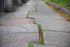 Cobbled stone road shown at a small angle in Petersburg Royalty Free Stock Image
