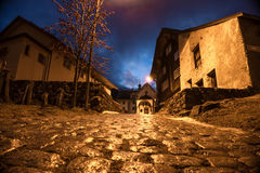 Cobbled stone road Royalty Free Stock Photo