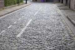 Cobbled Stone Street, Liverpool, Royalty Free Stock Images