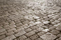 Cobbled Stone Street, Montepulciano Royalty Free Stock Photo