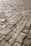 Cobbled Stone Street, Montepulciano; Tuscany Royalty Free Stock Photography