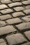 Cobbled Stone Street, Uzes, Provence, France Stock Photography