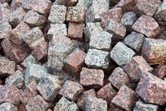 Cobbled stones background Royalty Free Stock Photos