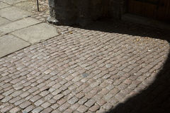 Cobbled Stones at Cathedral Church; Ely; Cambridgeshire Royalty Free Stock Image