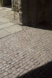 Cobbled Stones at Cathedral Church; Ely; Cambridgeshire Royalty Free Stock Photo