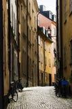 Cobbled Straße Lizenzfreies Stockfoto
