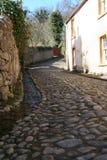 Cobbled Straße, Cromarty, Schottland Lizenzfreie Stockbilder