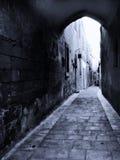Cobbled Straße von Mdina Stockfotografie