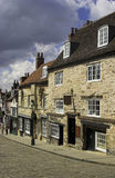 Cobbled Street. A Cobbled Street In A Historic City Of Lincoln, England, U.K Royalty Free Stock Photos