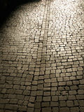 Cobbled Street. An ancient stone paved street stock images