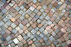 Cobbled street. Texture Royalty Free Stock Photos