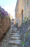 Cobbled street in Aquitaine Royalty Free Stock Photos