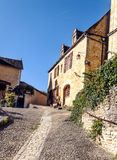 Cobbled street in Aquitaine Royalty Free Stock Photography