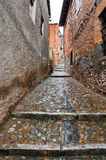 Cobbled street at Ayllon, Segovia, Spain Stock Photos