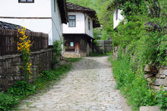 Cobbled Street in Bozhentsi Village Royalty Free Stock Images