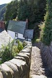 Cobbeled street in clovelly north devon uk Stock Image