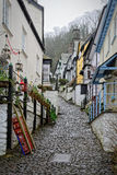 Cobbled street in English village Stock Photo