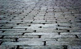 Cobbled street floor tile old brick style Stock Images