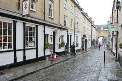 Cobbled Street. General view of an old cobbled street in the city centre on October 8, 2012 in Bath, UK. Bath is one of the UK's top tourist destinations with 4 Royalty Free Stock Photos