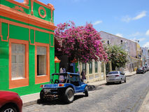Cobbled street in historic town Olinda, Brazil Stock Photos