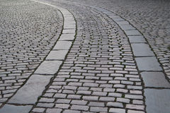 Cobbled street, Manchester Stock Photography