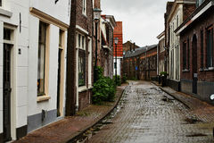 Cobbled street at Muiden, Holland Royalty Free Stock Image