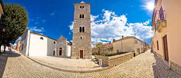 Cobbled street of Nin panoramic view Royalty Free Stock Photography
