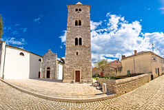 Cobbled street of Nin panoramic view Royalty Free Stock Images