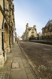 Cobbled Street, Oxford,England Royalty Free Stock Image