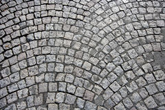 Cobbled street in Paris, France royalty free stock images