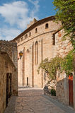 Cobbled Street, Peratallada town, Spain Royalty Free Stock Images