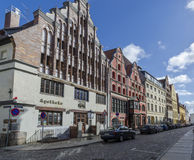 Cobbled Street, Stralsund, Germany Stock Photography