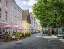 Cobbled Street, Stralsund, Germany Royalty Free Stock Photos