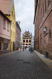 Cobbled Street, Stralsund, Germany Stock Photos