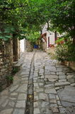 Cobbled street - Thassos Island, Greece. Cobbled street in Thassos Island, Greece Royalty Free Stock Photo