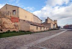 Cobbled street of Urueña Stock Photo