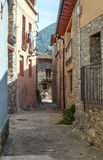 Cobbled street in a village Stock Images