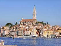 Cobbled streets and crowded houses of Rovinj Stock Photography