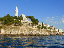 Cobbled streets and crowded houses of Rovinj Stock Photos