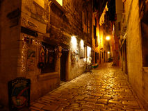 The cobbled streets of Rovinj Stock Photos