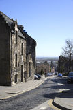 Cobbled streets of Scotland royalty free stock photo