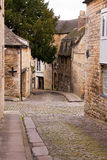 Cobbled streets in Stamford. Cobbled streets in the town of Stamford, Lincolnshire, UK stock photography